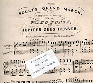 Congress of Soult's Grand March - Vintage Piano Sheet Music