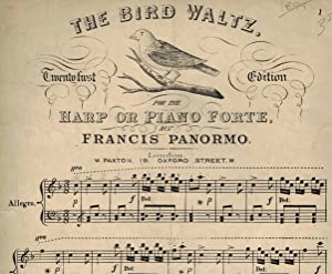The Bird Waltz - Sheet Music for Harp or Pianoforte
