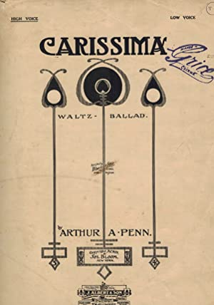 Carissima : Waltz Ballad Sheet Music for High Voice