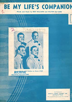 Be My Life's Companion - Sheet Music - Mills Brothers Cover