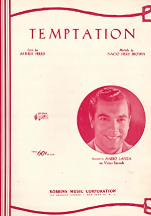 Temptation - Sheet Music - Mario Lanza Cover
