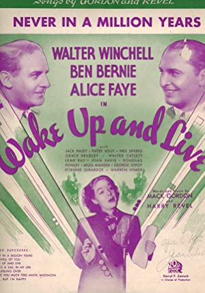 Never in a Million Years - Sheet Music from Wake Up and Live - Alice Faye, Walter Winchell and Be...