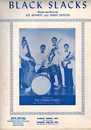 Black Slacks - Vintage Sheet Music with the Sparkletones Cover