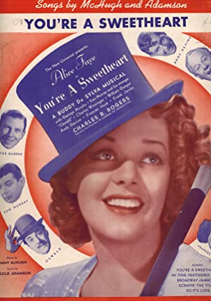 You're a Sweetheart - Vintage Sheet Music Alice Faye Cover