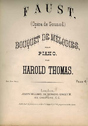 Faust Opera De Gounod Bouquet De Melodies - Piano Sheet Music