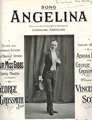 Angelina Song from Our Miss Gibbs - Vintage Piano Sheet Music