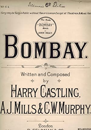 Bombay - Vintage Sheet Music