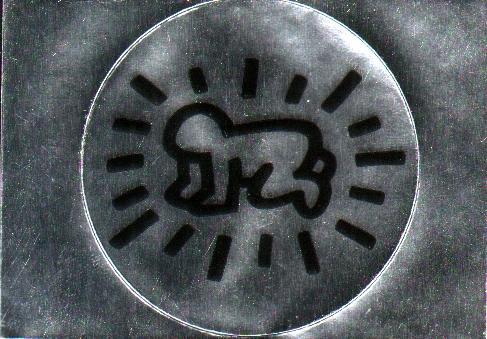 Kneeling Radiating Baby Sticker Keith Haring