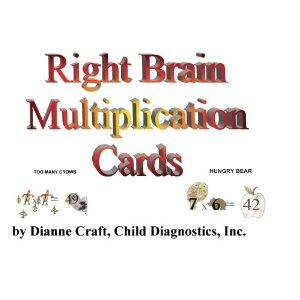 Right Brain Multiplication Cards: Dianne Craft