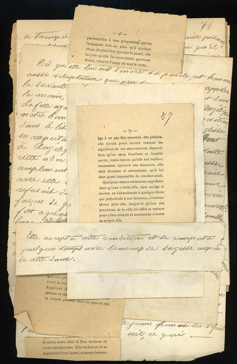Ten manuscript pages written c1930, forming drafts: EROTICA