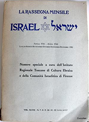 LA RASSEGNA MENSILE DI ISRAEL VOL. XLVII: EDOARDO VITTA, MAX