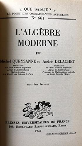 QUEYSANNE ALGEBRA EPUB