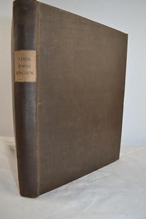 Liber insule missarum: Abbacie canonicorum regularium B. Virginis et S. Johannes de Inchaffery ...