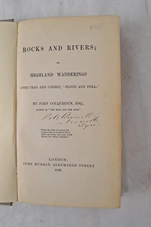 "Rocks and rivers; or, Highland wanderings over crag and correi, ""flood and fell."": ..."