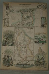 British possessions on the North East Coast of South America.: MAP.
