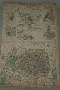 French ports & harbours, and plan of Paris.: MAP.