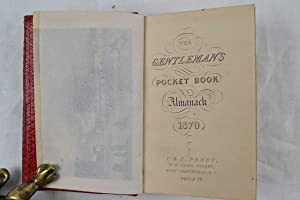 The gentleman's pocket book almanack. 1870.: ALMANACK.