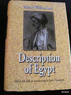 Description of Egypt: Notes and Views on: Lane, Edward William;Thompson,