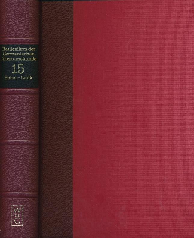 Reallexikon der Germanischen Altertumskunde. Band 15: Hobel: Johannes Hoops mit