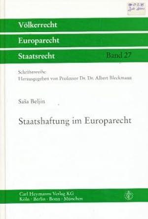 Staatshaftung im Europarecht.: Beljin, Sasa