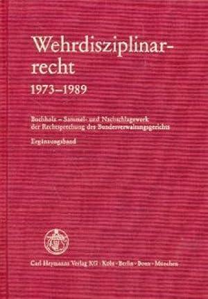 Wehrdisziplinarrecht 1973-1989.: Mitglieder d. 2. Wehrdienstsenates