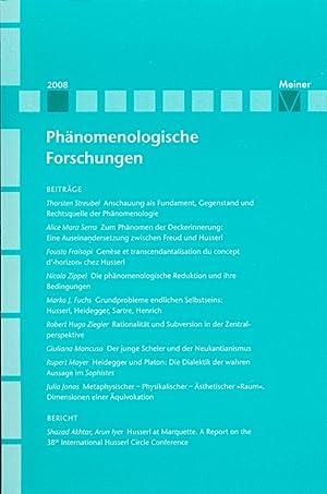 Phänomenologische Forschungen, Jahrgang 2008.: Lembeck, Karl-Heinz ; Martens, Karl ; Orth, ...