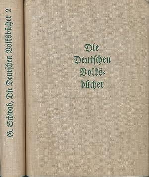 Die deutschen Volksbücher für jung und alt wiedererzählt (2 Bände).: Schwab, ...