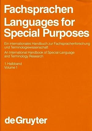 Fachsprachen / Languages for Special Purposes ; Ein internationales Handbuch zur ...