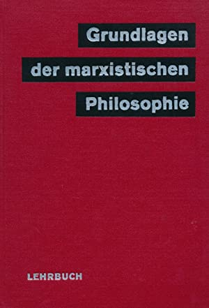 Grundlagen der marxistischen Philosopie.: Diverse