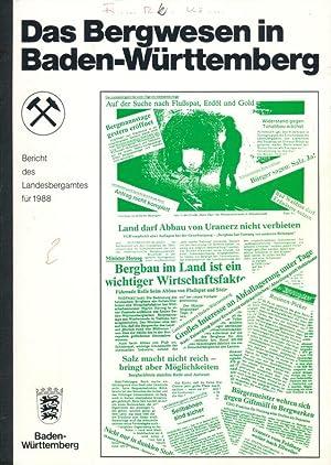 Das Bergwesen in Baden-Württemberg. Teil: 1988.: Diverse::