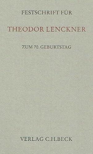 Festschrift für Theodor Lenckner zum 70. Geburtstag.: Eser, Albin (Herausgeber); Schittenhelm,...