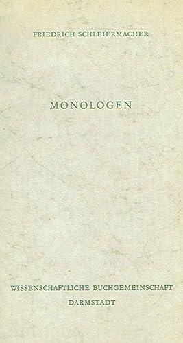 Monolgen. Eine Neujahrsgabe.: Schleiermacher, Friedrich.: