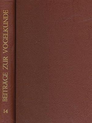 Beiträge zur Vogelkunde. 14. Band 1968 / 69.: Dr. Heinrich Dathe (Hrsg.), Dr. G. Creutz (...