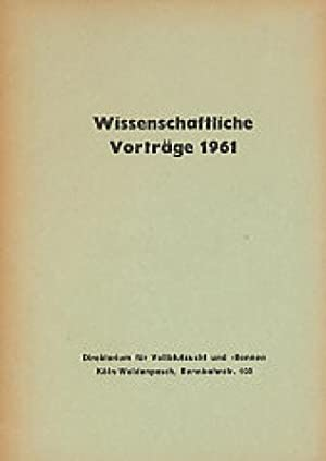 Wissenschaftliche Vorträge 1961 - Direktorium für Vollblutzucht und -rennen.: Diverse: