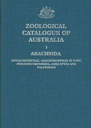 Zoological catalogue of Australia ; 3 Arachnida: Main, Barbara Y.