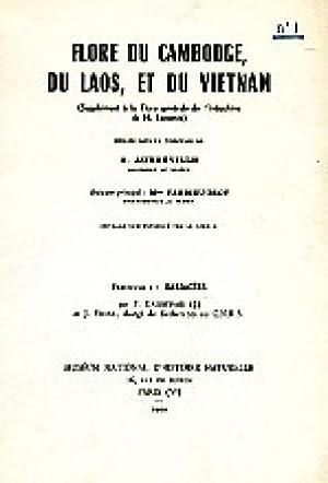 Flore du Cambodge, du Laos et du Viêtnam ; Fascicule 1: Sabiacées.: Gagnepain, F.