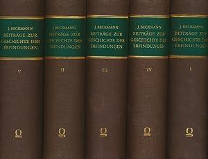Beiträge zur Geschichte der Erfindungen ( 5 Bände ).: Beckmann, Johann