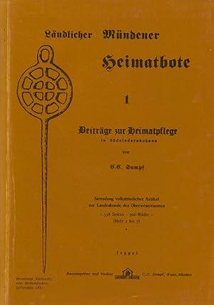 Ländlicher Mündener Heimatbote, 1 ; Beiträge zur Heimatpflege in Sü...