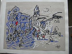 La Festo en Païs d'Arle. La Fête au pays d'Arles. Illustrations de Jean Ar&...