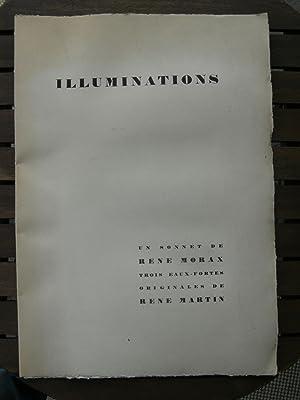 Illuminations. Un sonnet de René Morax, trois eaux-fortes originales de René Martin.:...