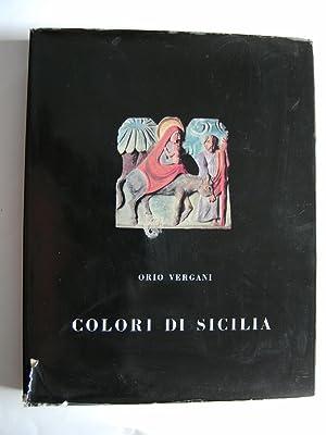 Colori di Sicilia. Disegni di Mario Vallani Marchi. Fotografie di Claudio Emmer.: VERGANI Orio.
