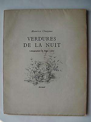 Verdures de la Nuit. Lithographies de René Creux.: CHAPPAZ Maurice.