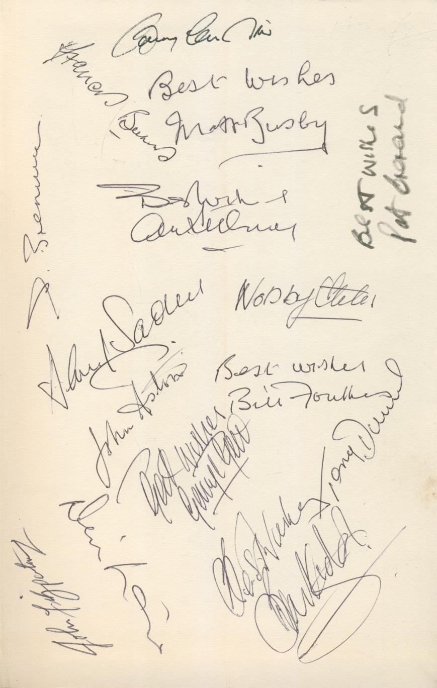 MANCHESTER UNITED FOOTBALL BOOK NO.8 - SIGNED BY THE 1968 EUROPEAN CUP WINNING TEAM David MEEK (Ed.)