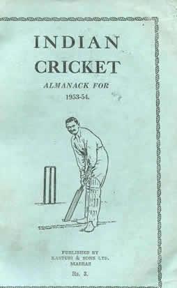 INDIAN CRICKET ALMANACK FOR 1953-54: GURUNATHAN, S.K. (Ed.)