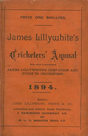 James Lillywhite's Cricketers' Annual For 1894: Charles William Alcock