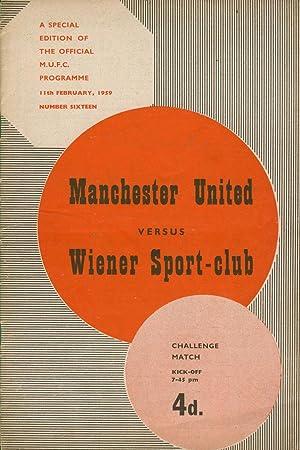 MANCHESTER UNITED V WIENER SPORT-CLUB 1959 FOOTBALL