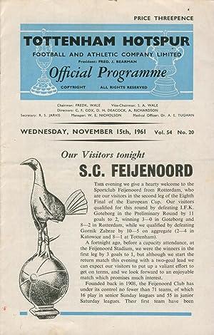 TOTTENHAM HOTSPUR V FEYENOORD 1961 (EUROPEAN CUP)