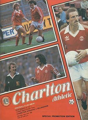 CHARLTON ATHLETIC V GILLINGHAM 1981 FOOTBALL PROGRAMME