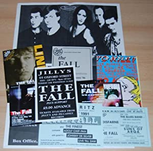A Collection of various flyers and a large poster for The Fall