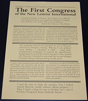 The First Congress of the New Lettrist International